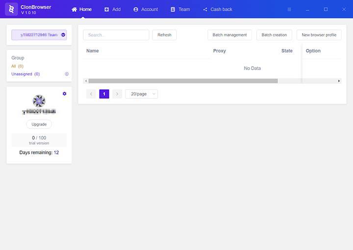 clonbrwoser client homepage