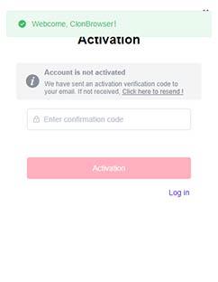 enter email verification code