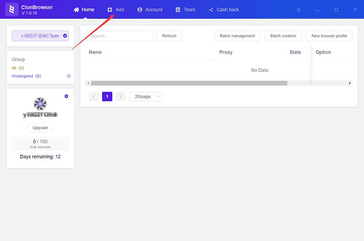Add New Browser Configuration