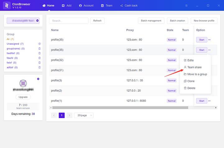 Configure Information Sharing